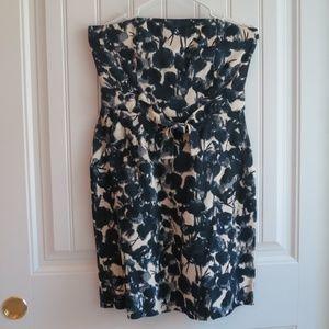 Banana Republic Floral Blue & White Dress sz 6